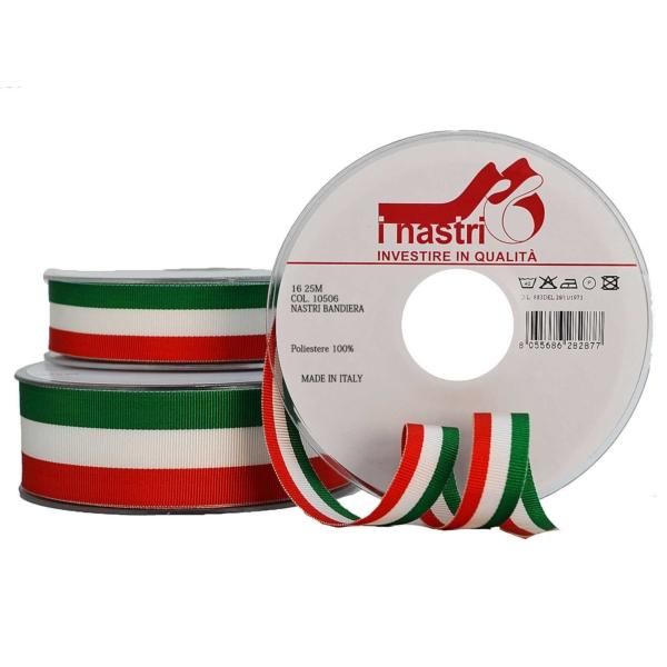 Cinta de poliéster Bandera italiana
