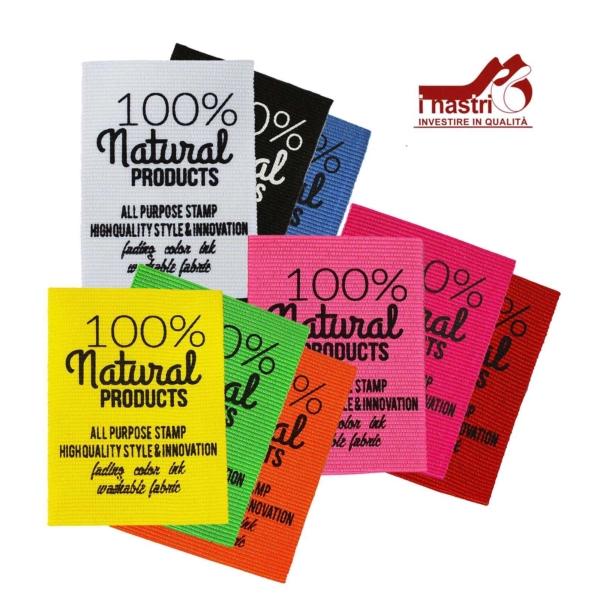 Etiqueta de productos naturales